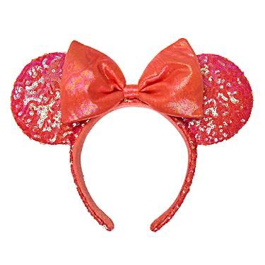 Coral Minnie Ears