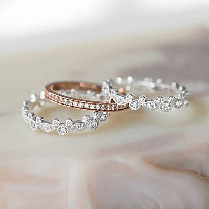 Mickey Stacking Ring Trio
