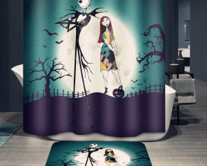 Jack and Sally Shower Set