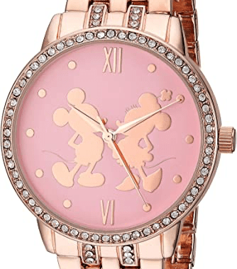 Rose Gold Mickey and Minnie Watch