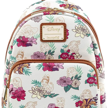 Princess Floral Loungefly Mini Backpack