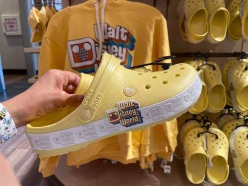 Retro yellow Disney Crocs
