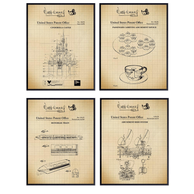 Attraction Patent Art Prints