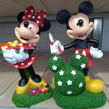 Mickey And Minnie Garden Statues