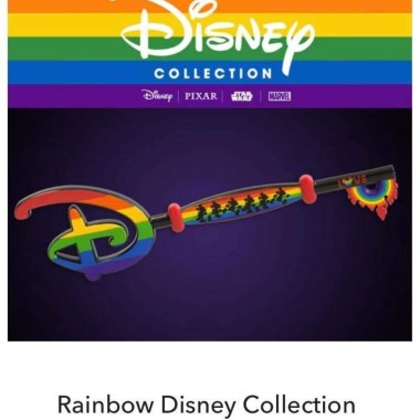 Rainbow collection Mickey key