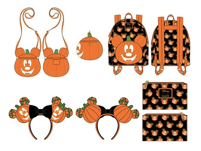 Pumpkin Mickey Loungefly Pieces