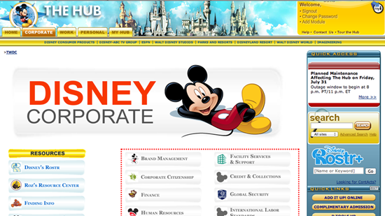 Disney Hub Login Page Enterpriseportal