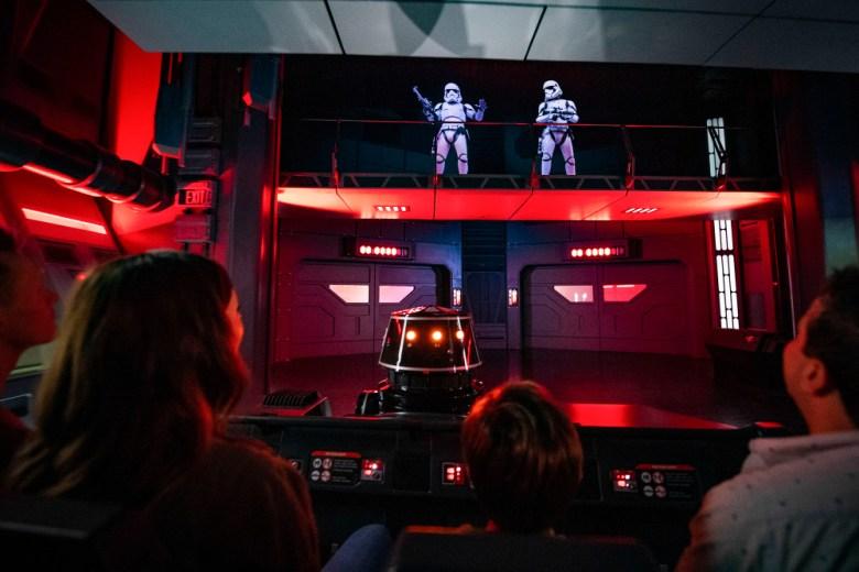 Escena de la atracción Star Wars: Rise of the Resistance