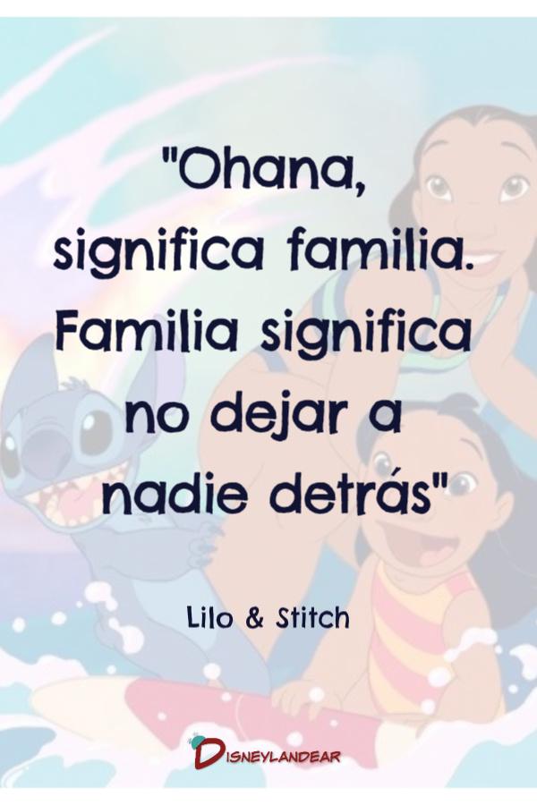 Frase sobre la familia de la película Lili & Stitch