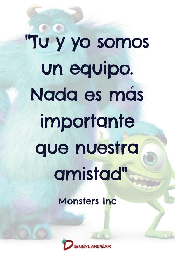 frase de amistad de Monsters Inc