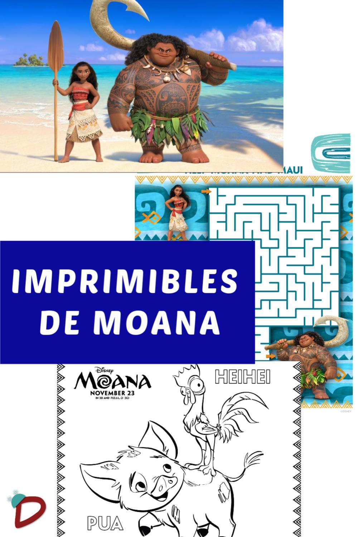 Gráfico con imprimibles de Moana