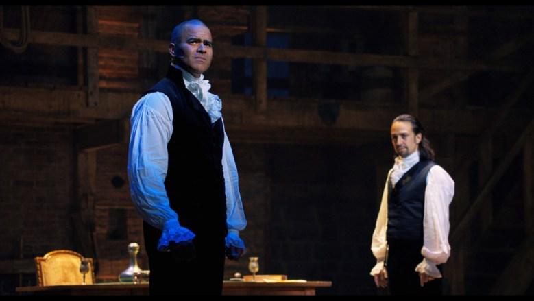 Escena de Hamilton con George Washington