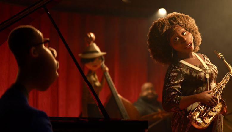 Joe y Dorothea en el club de jazz, escena de la película Soul