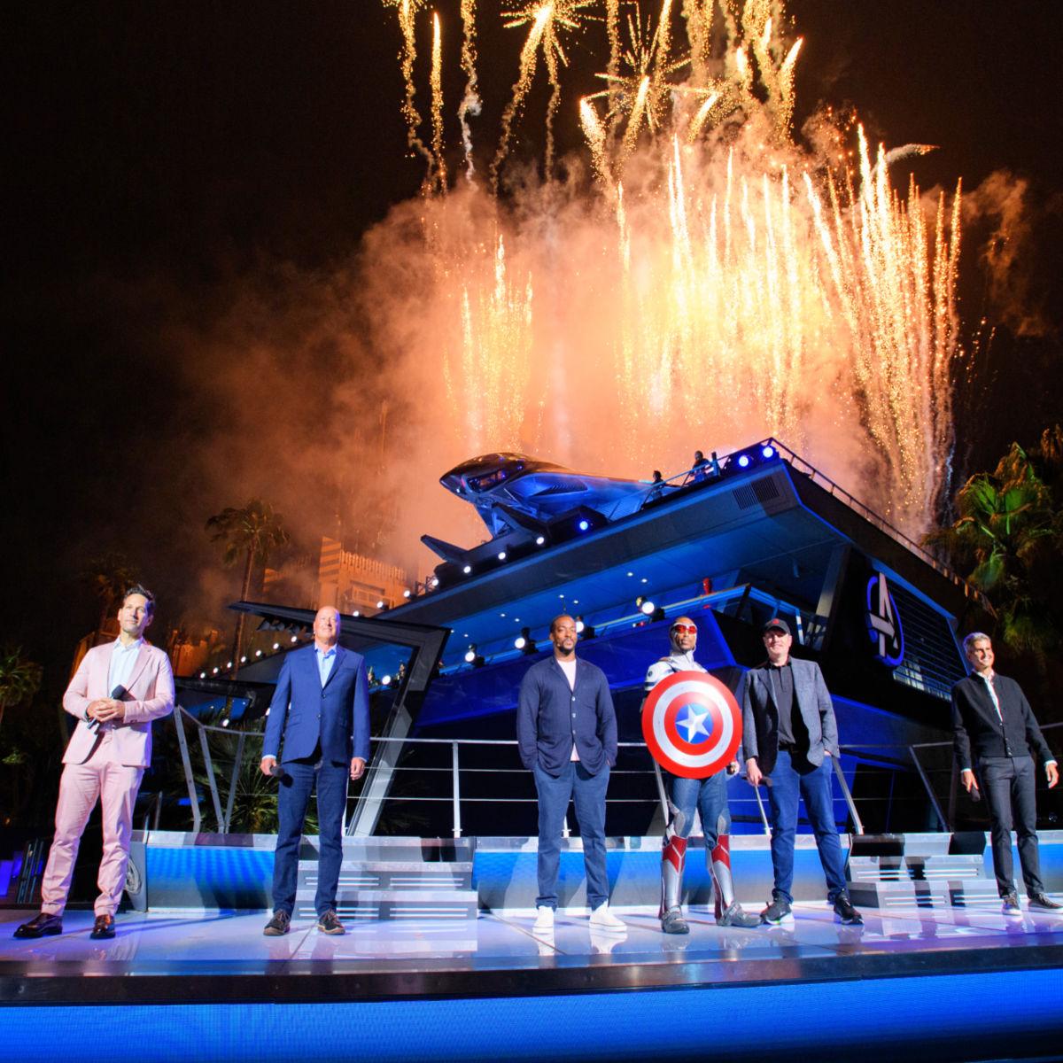 Noche de inauguración de Avengers Campus