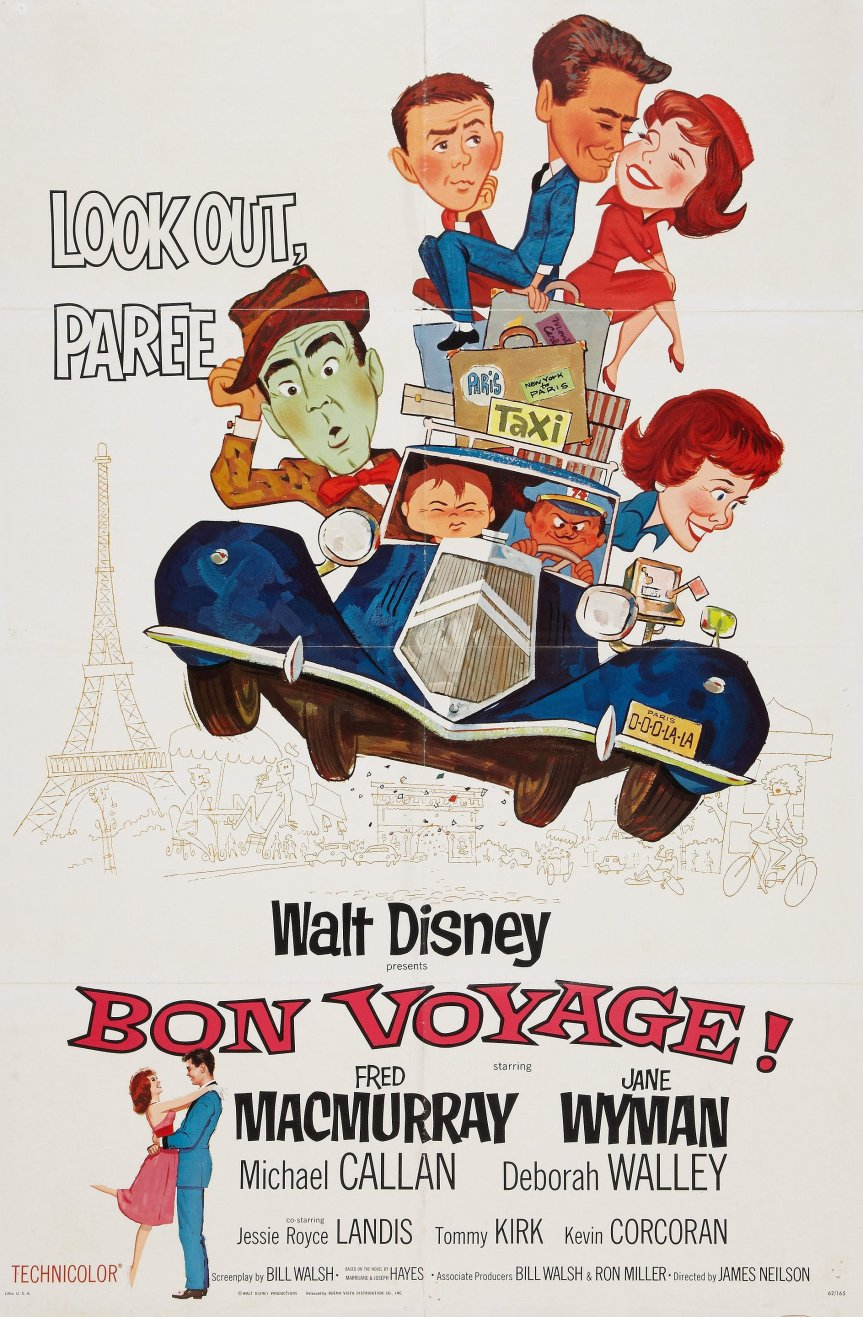 "Poster for the movie ""Bon Voyage!"""