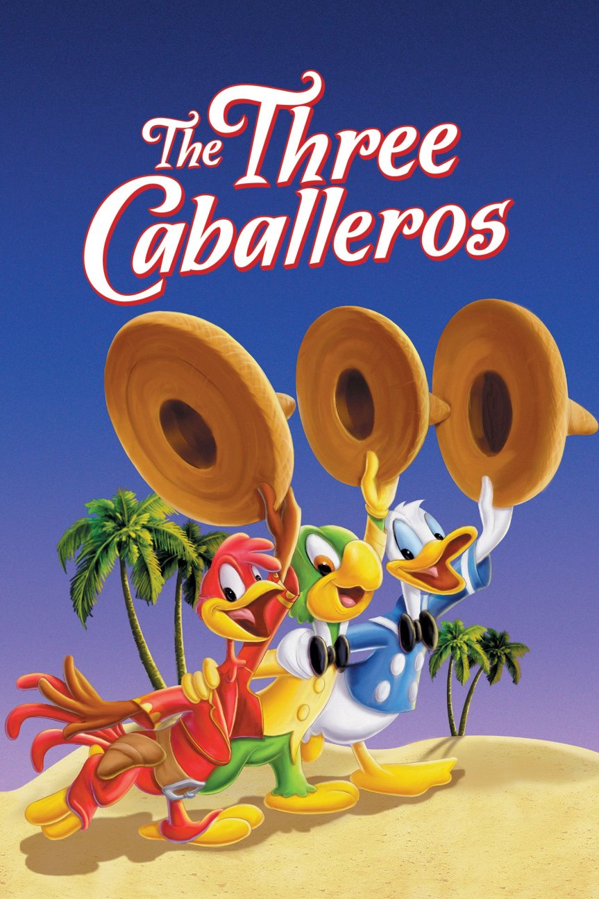 """Poster for the movie """"The Three Caballeros"""""""