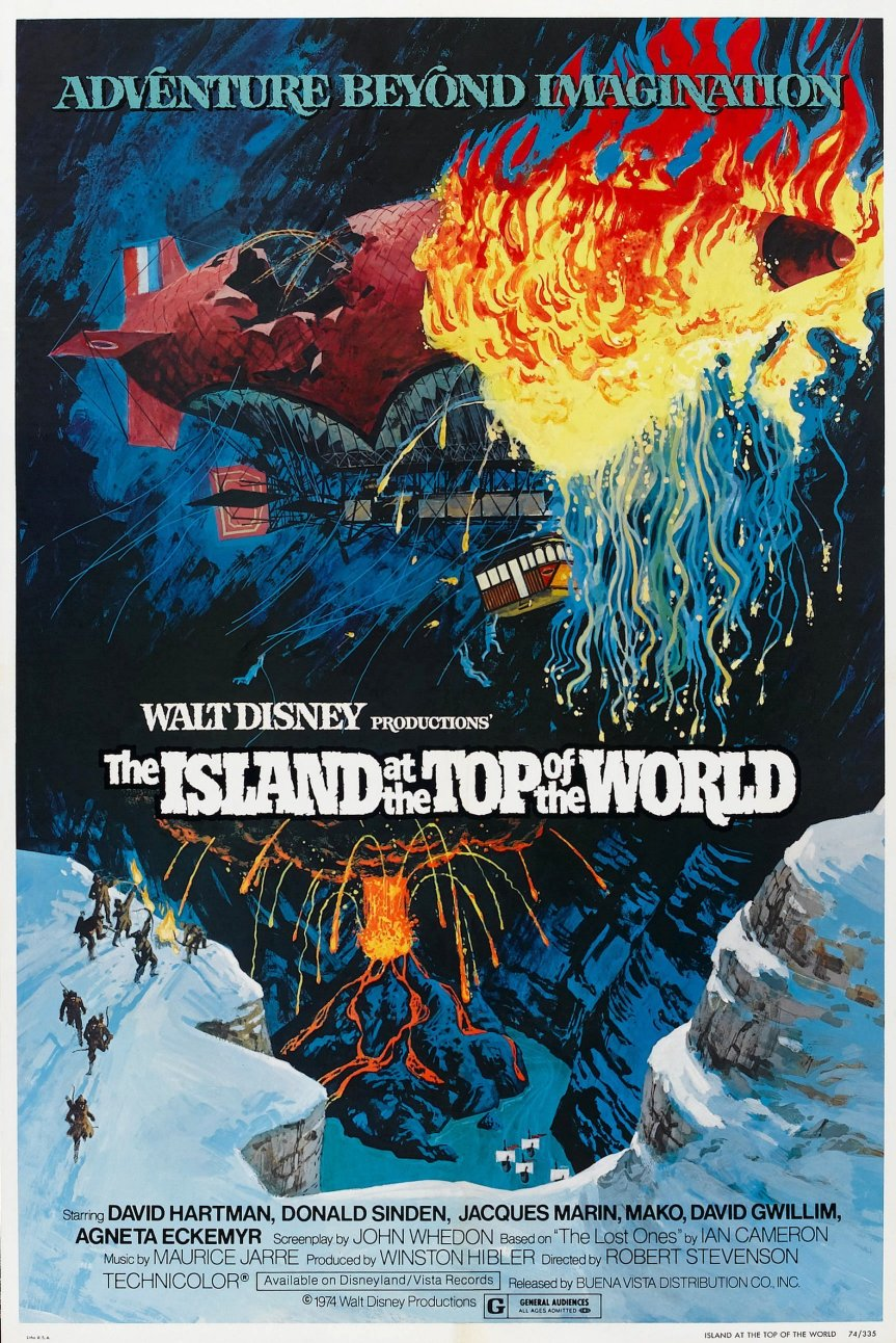 "Poster for the movie ""The Island at the Top of the World"""