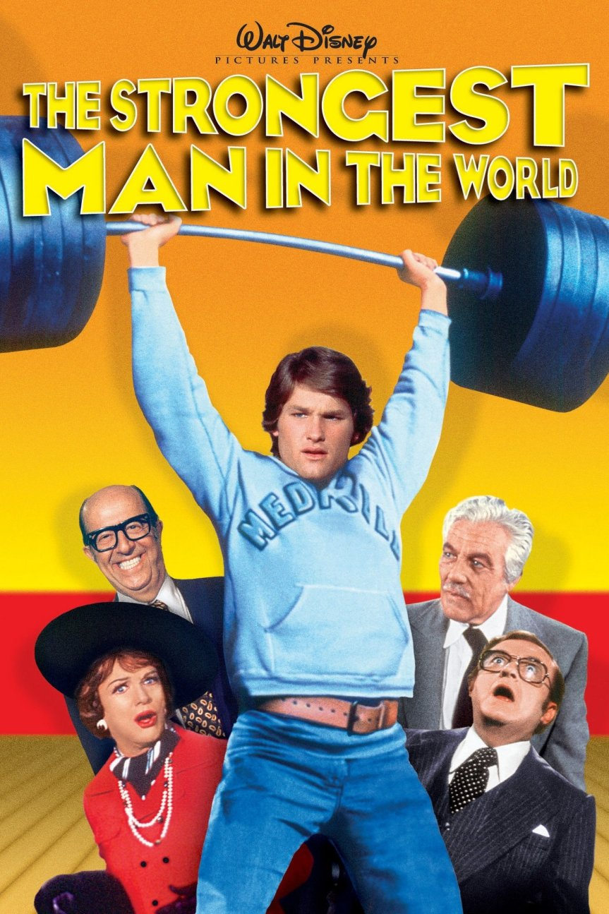 "Poster for the movie ""The Strongest Man in the World"""