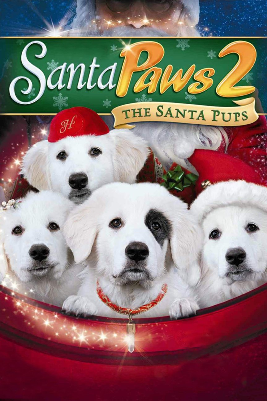 "Poster for the movie ""Santa Paws 2: The Santa Pups"""