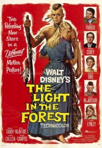 "Poster for the movie ""The Light in the Forest"""
