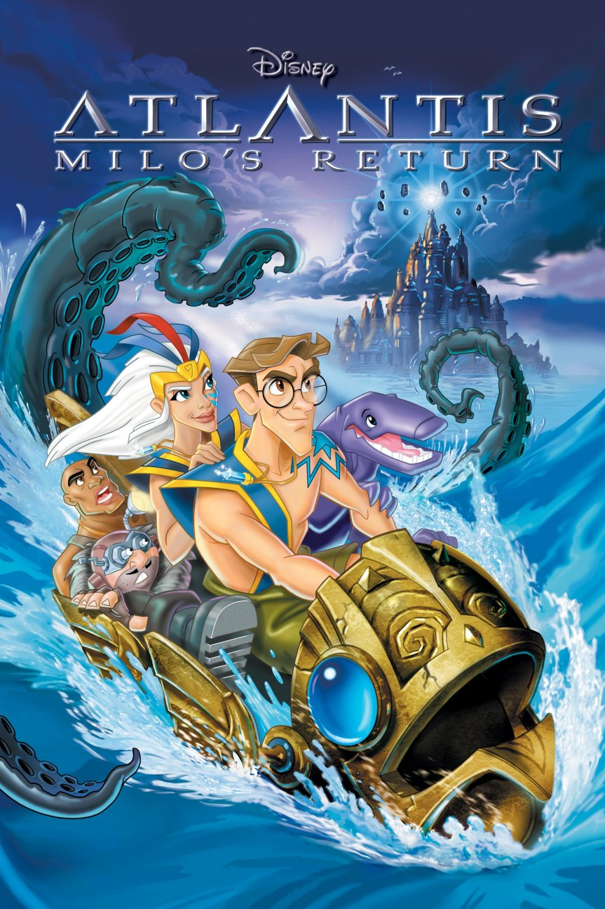 "Poster for the movie ""Atlantis: Milo's Return"""