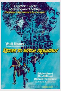 "Poster for the movie ""Escape to Witch Mountain"""