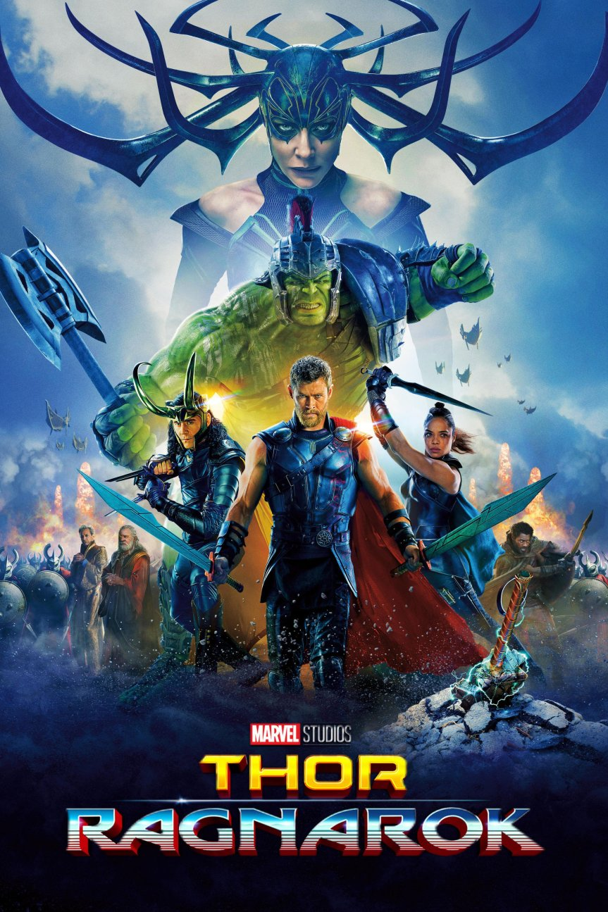 "Poster for the movie ""Thor: Ragnarok"""