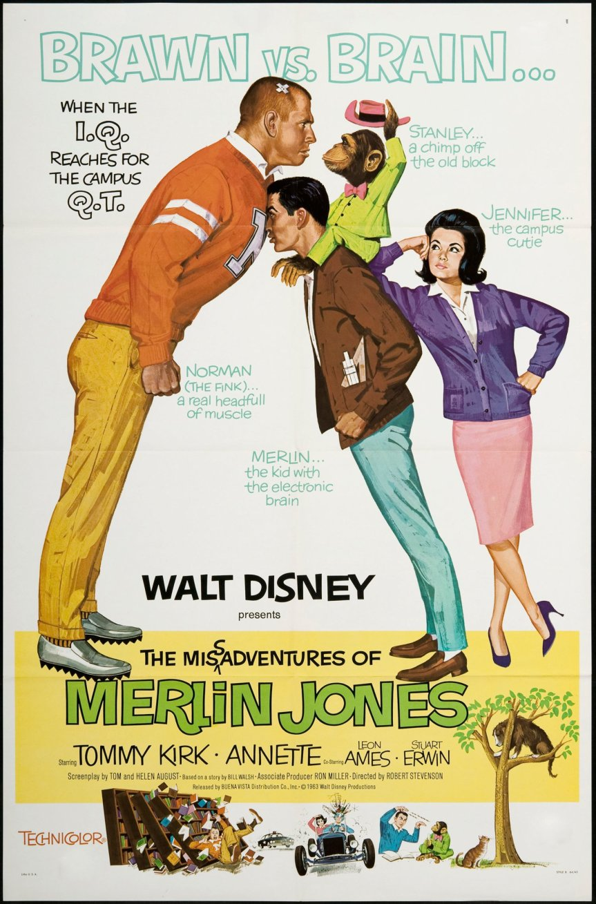 "Poster for the movie ""The Misadventures of Merlin Jones"""