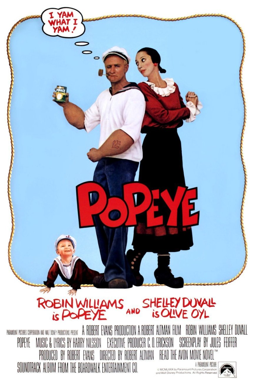 """Poster for the movie """"Popeye"""""""