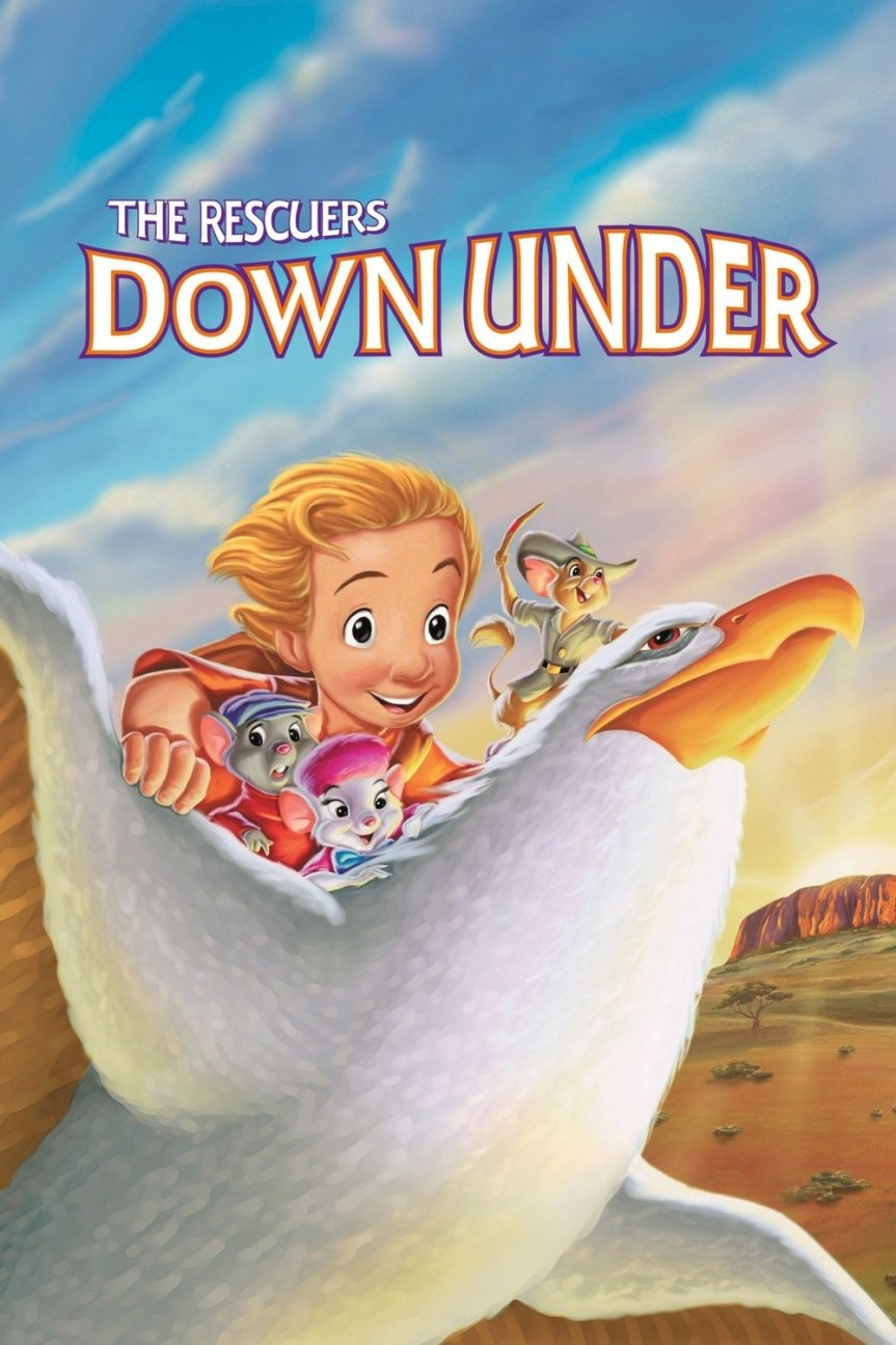 """Poster for the movie """"The Rescuers Down Under"""""""