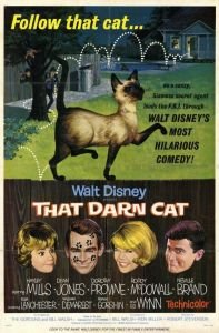 "Poster for the movie ""That Darn Cat!"""