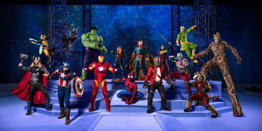"""List of Marvel Characters at Feld Entertainment's """"Marvel Universe LIVE!"""" Stunt Show"""