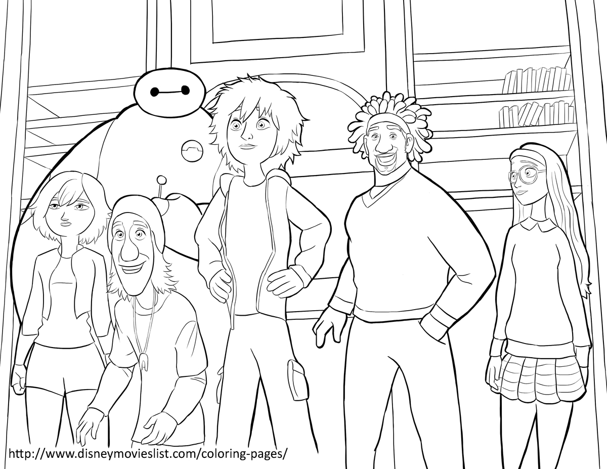 Team big hero 6 coloring pages