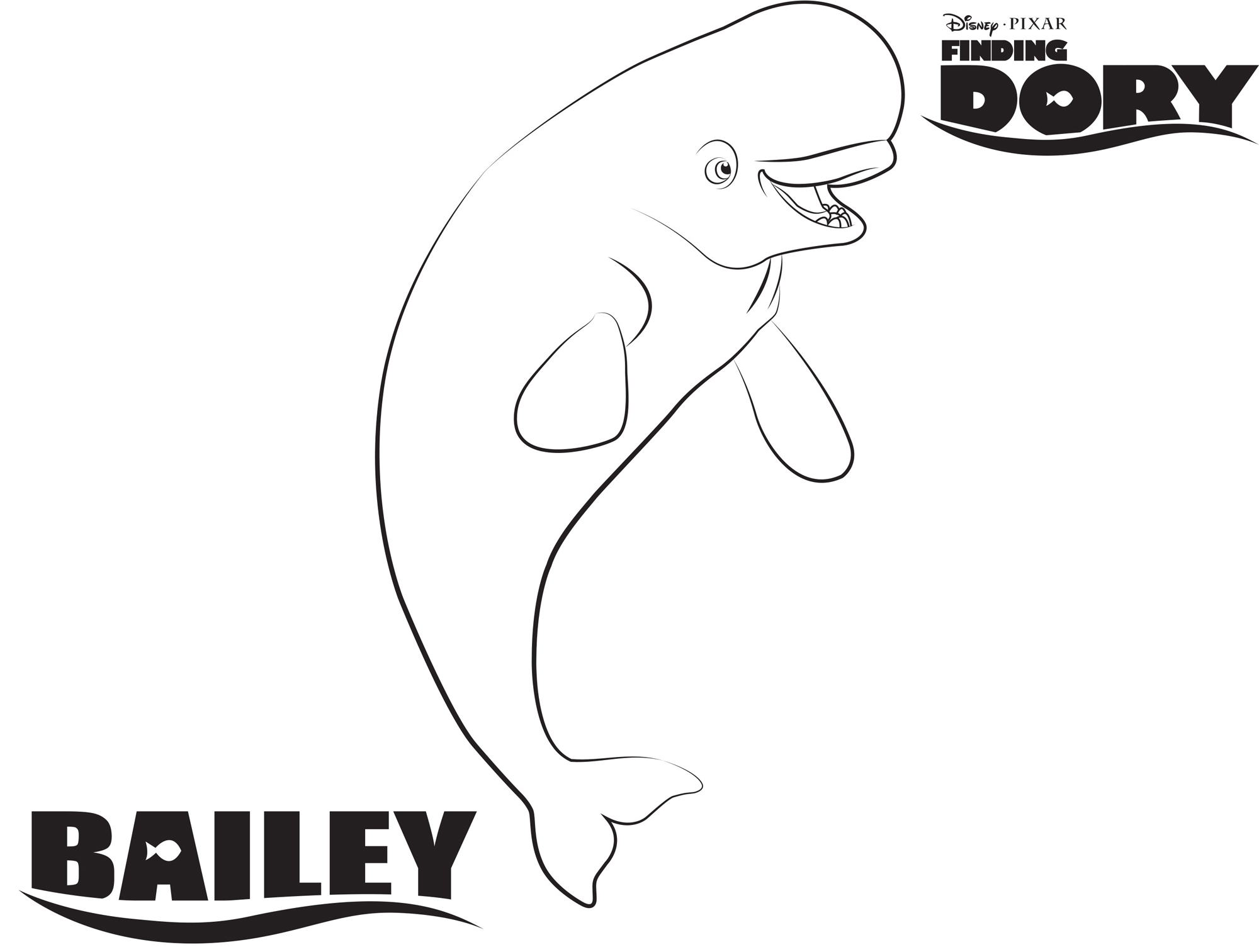 Bailey Finding Dory Coloring Pages