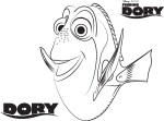 Dory - Finding Dory Coloring Pages