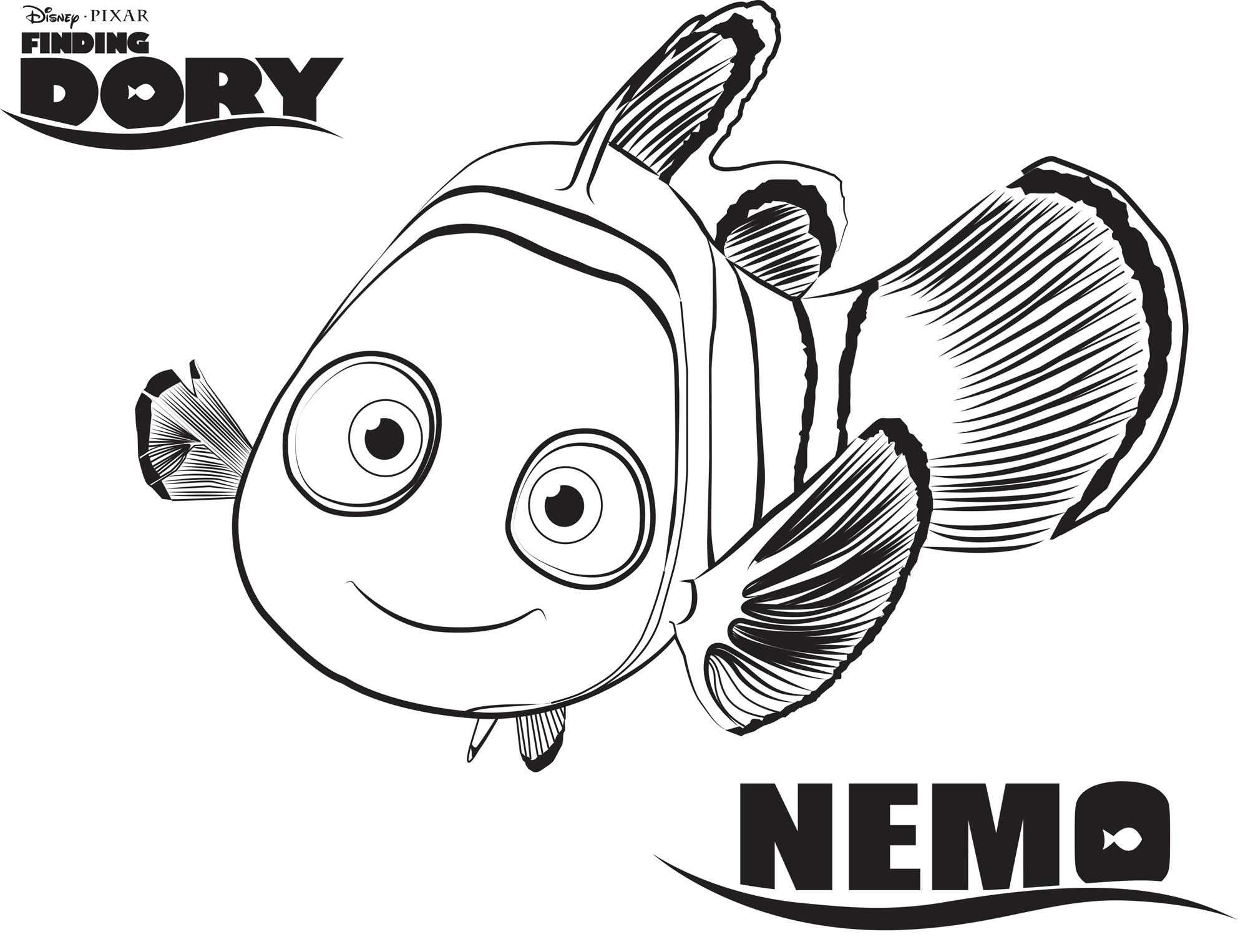 Nemo – Finding Dory Coloring Pages | Disney Movies List