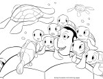Squirt – Finding Nemo Coloring Pages