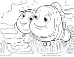 Nemo and Marlin – Finding Nemo Coloring Pages
