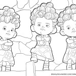 The Triplets – Brave Coloring Pages
