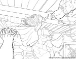 Merida and Elinor - Brave Coloring Pages