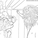 Merida and the Witch – Brave Coloring Pages