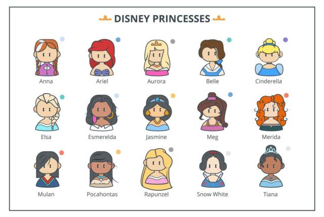 all disney princesses names and pictures