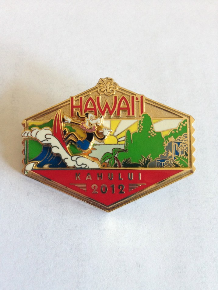 One of the Disney Cruise Line pins featuring Hawaii