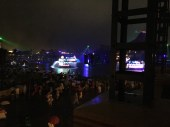 Our view of Fantasmic from the balcony of the restaurant