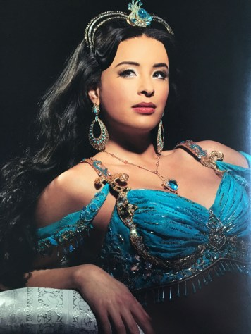 Gorgeous picture of Courtney Reed who originated the role of Jasmine on Broadway