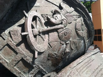 Some of the intricate detail on the Disney Legends statue