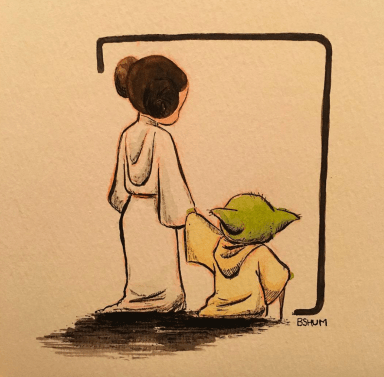 A powerful memorial for Carrie Fisher's passing