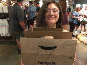 """Emma quite happy with her """"adopted"""" banshee"""