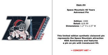This is just a great pin, plus I love Space Mountain