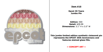 I've always loved Epcot and this jumbo pin looked cool